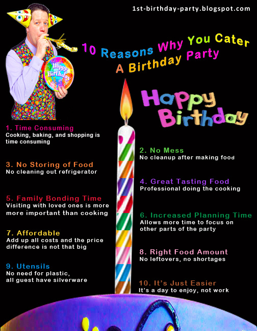 Birthday Party Tips - Catering