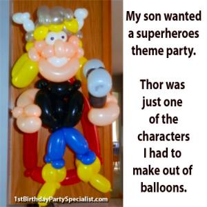 balloon centerpiece Thor