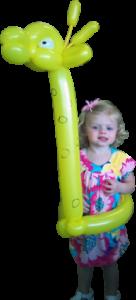 Birthday Girls in giraffe Balloon