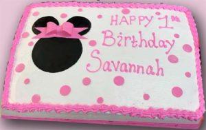 Kettlmeier 1st Birthday Party Cake