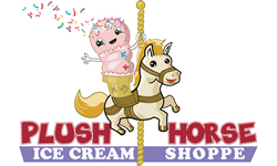 Plush Horse Ice Cream Shop