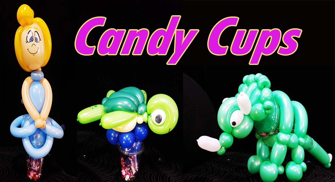 Balloon Candy Cups for birthday parties