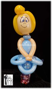 Princess Balloon Candy Cup for kids birthday parties as giveaways