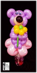 Teddy Bear Balloon Candy Cup by balloon artist Dale Obrochta