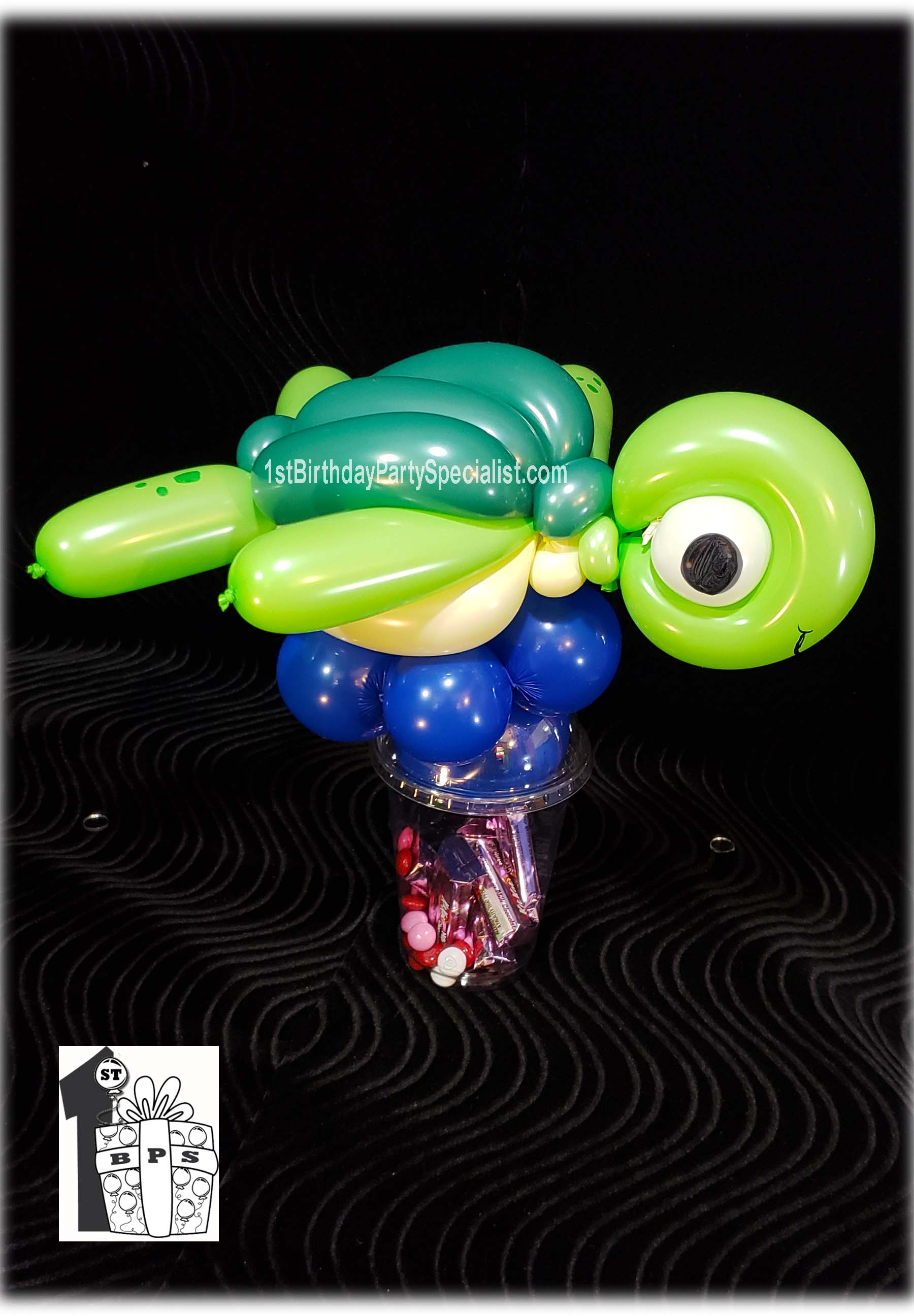 Turtle Balloon Candy Cup for birthday party