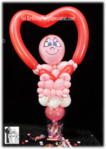Valentines Day balloon candy cup for valentines day present